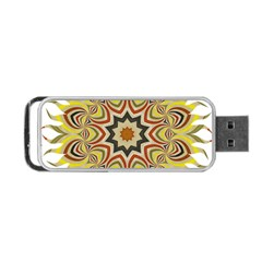 Abstract Geometric Seamless Ol Ckaleidoscope Pattern Portable Usb Flash (two Sides) by Simbadda