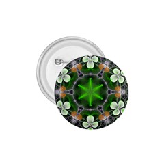 Green Flower In Kaleidoscope 1 75  Buttons by Simbadda