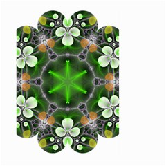 Green Flower In Kaleidoscope Large Garden Flag (two Sides) by Simbadda