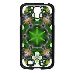 Green Flower In Kaleidoscope Samsung Galaxy S4 I9500/ I9505 Case (black) by Simbadda