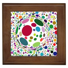 Color Ball Framed Tiles by Mariart