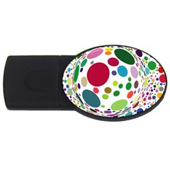 Color Ball Usb Flash Drive Oval (4 Gb) by Mariart