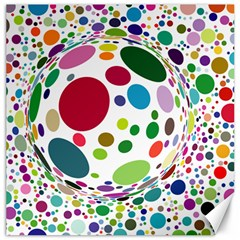 Color Ball Canvas 12  X 12   by Mariart