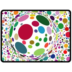 Color Ball Fleece Blanket (large)  by Mariart