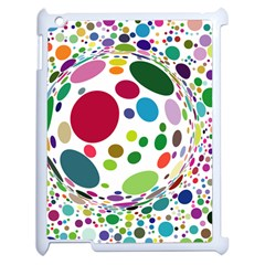 Color Ball Apple Ipad 2 Case (white) by Mariart