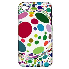 Color Ball Apple Iphone 4/4s Hardshell Case (pc+silicone) by Mariart
