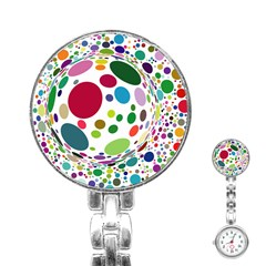 Color Ball Stainless Steel Nurses Watch by Mariart