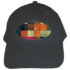 Background With Color Layered Tiling Black Cap by Simbadda