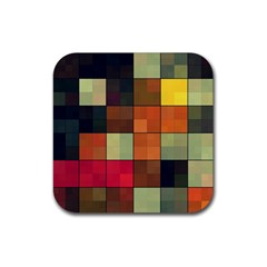 Background With Color Layered Tiling Rubber Coaster (square)  by Simbadda