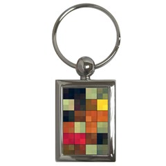 Background With Color Layered Tiling Key Chains (rectangle)  by Simbadda