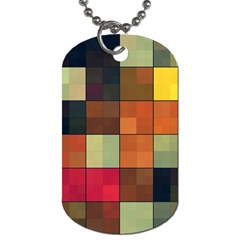 Background With Color Layered Tiling Dog Tag (two Sides) by Simbadda