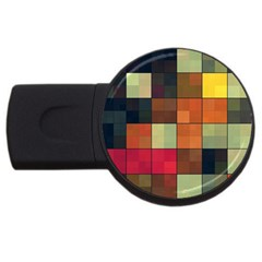 Background With Color Layered Tiling Usb Flash Drive Round (4 Gb) by Simbadda