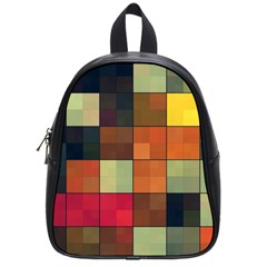 Background With Color Layered Tiling School Bags (small)  by Simbadda