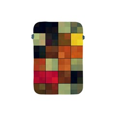 Background With Color Layered Tiling Apple Ipad Mini Protective Soft Cases by Simbadda