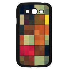 Background With Color Layered Tiling Samsung Galaxy Grand Duos I9082 Case (black) by Simbadda