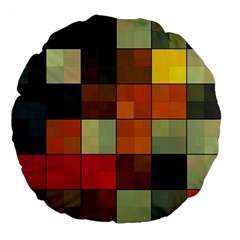 Background With Color Layered Tiling Large 18  Premium Flano Round Cushions by Simbadda
