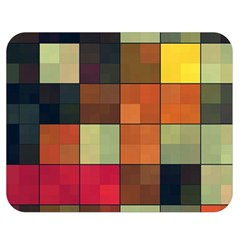 Background With Color Layered Tiling Double Sided Flano Blanket (medium)  by Simbadda