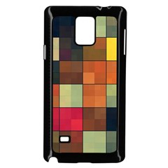 Background With Color Layered Tiling Samsung Galaxy Note 4 Case (black)