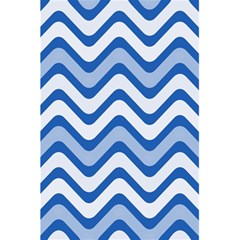 Background Of Blue Wavy Lines 5 5  X 8 5  Notebooks by Simbadda