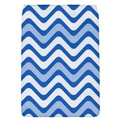 Background Of Blue Wavy Lines Flap Covers (s)  by Simbadda