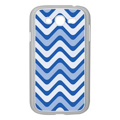 Background Of Blue Wavy Lines Samsung Galaxy Grand Duos I9082 Case (white) by Simbadda