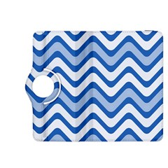 Background Of Blue Wavy Lines Kindle Fire Hdx 8 9  Flip 360 Case by Simbadda