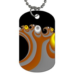 Classic Mandelbrot Dimpled Spheroids Dog Tag (two Sides) by Simbadda