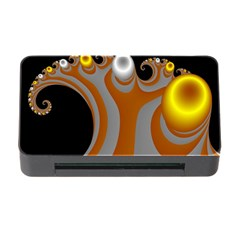 Classic Mandelbrot Dimpled Spheroids Memory Card Reader With Cf by Simbadda