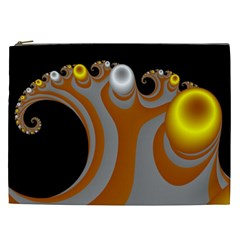Classic Mandelbrot Dimpled Spheroids Cosmetic Bag (xxl)  by Simbadda