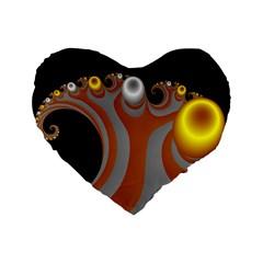 Classic Mandelbrot Dimpled Spheroids Standard 16  Premium Heart Shape Cushions by Simbadda