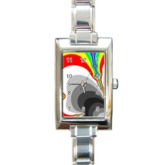 Background Image With Color Shapes Rectangle Italian Charm Watch by Simbadda