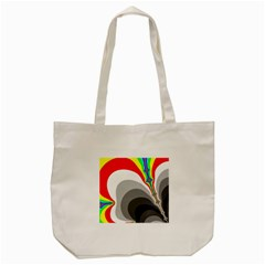 Background Image With Color Shapes Tote Bag (cream) by Simbadda