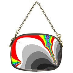 Background Image With Color Shapes Chain Purses (one Side)  by Simbadda