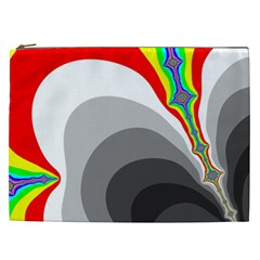 Background Image With Color Shapes Cosmetic Bag (xxl)  by Simbadda