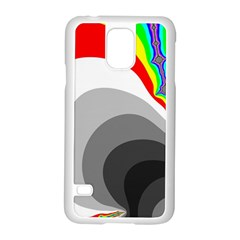 Background Image With Color Shapes Samsung Galaxy S5 Case (white) by Simbadda
