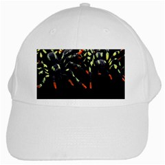 Colorful Spiders For Your Dark Halloween Projects White Cap by Simbadda