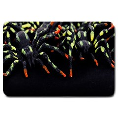 Colorful Spiders For Your Dark Halloween Projects Large Doormat  by Simbadda