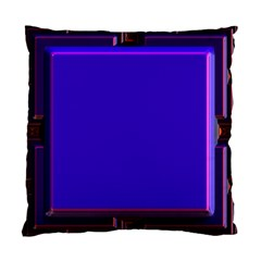 Blue Fractal Square Button Standard Cushion Case (one Side) by Simbadda