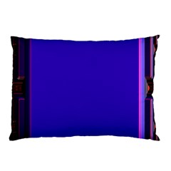 Blue Fractal Square Button Pillow Case (two Sides) by Simbadda