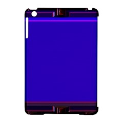 Blue Fractal Square Button Apple Ipad Mini Hardshell Case (compatible With Smart Cover) by Simbadda