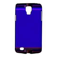 Blue Fractal Square Button Galaxy S4 Active by Simbadda