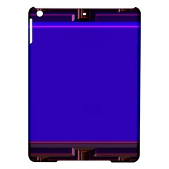 Blue Fractal Square Button Ipad Air Hardshell Cases by Simbadda