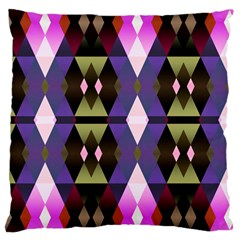 Geometric Abstract Background Art Large Cushion Case (one Side) by Simbadda