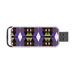 Geometric Abstract Background Art Portable Usb Flash (one Side) by Simbadda