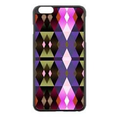 Geometric Abstract Background Art Apple Iphone 6 Plus/6s Plus Black Enamel Case by Simbadda