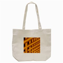 Fractal Background With Gold Pipes Tote Bag (cream) by Simbadda