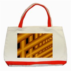 Fractal Background With Gold Pipes Classic Tote Bag (red) by Simbadda