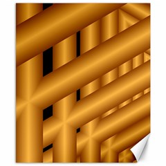 Fractal Background With Gold Pipes Canvas 8  X 10  by Simbadda