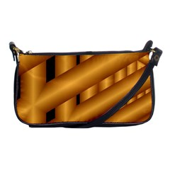 Fractal Background With Gold Pipes Shoulder Clutch Bags by Simbadda