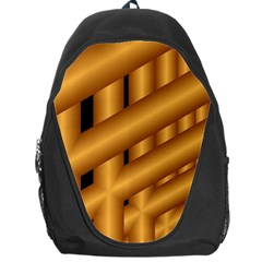 Fractal Background With Gold Pipes Backpack Bag by Simbadda